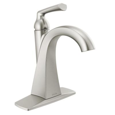 Pierce Single Hole Single-Handle Bathroom Faucet in SpotShield Brushed Nickel