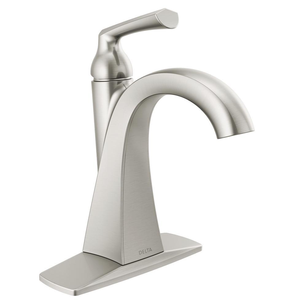 Pierce Single Hole Single-Handle Bathroom Faucet in SpotShield Brushed Nickel