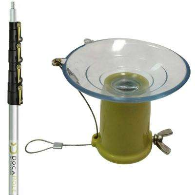 High Reach Light Bulb Changer Kit with Suction Cup 6 ft. - 24 ft. Telescopic Extension Pole
