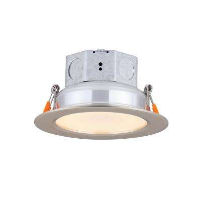 4 in. Brushed Nickel Integrated LED Recessed Kit