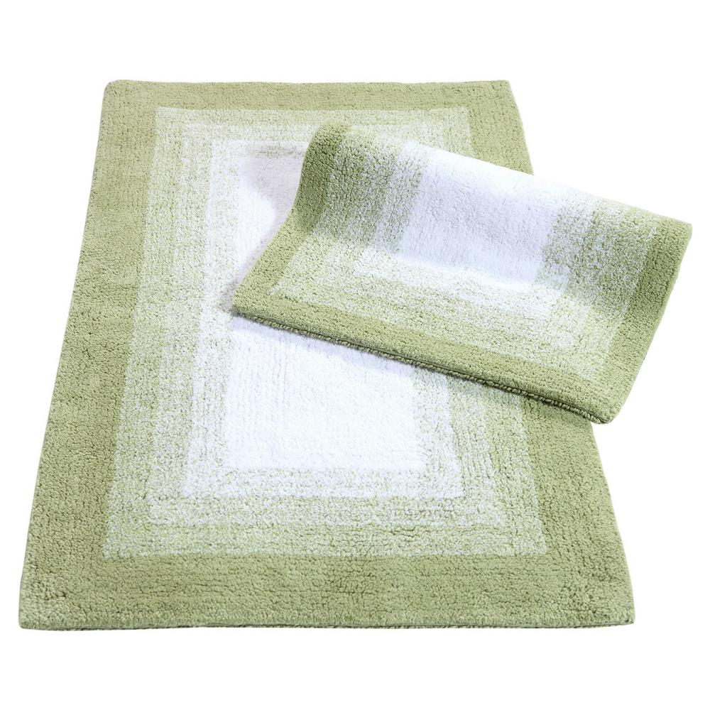 Whitney Ombre Reversible Nile Green 21 in. x 34 in. 2-Piece