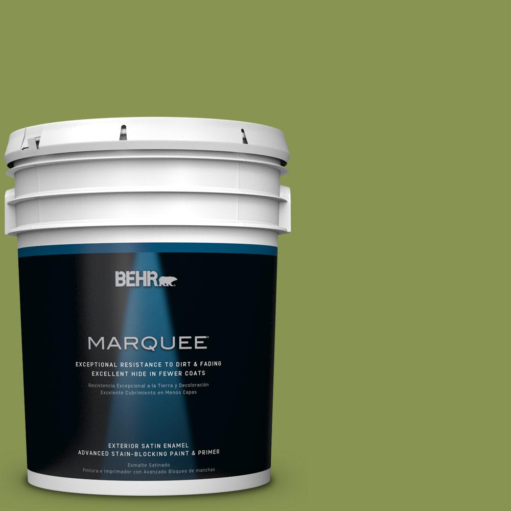 BEHR MARQUEE 5-gal. #M360-6 Bold Avocado Satin Enamel Exterior Paint