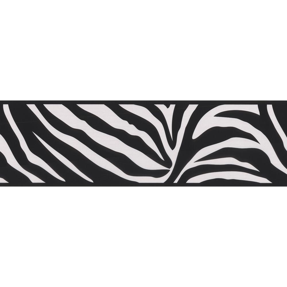 Brewster zebra crossing black wallpaper border 443b90546 the brewster zebra crossing black wallpaper border 443b90546 the home depot voltagebd Choice Image