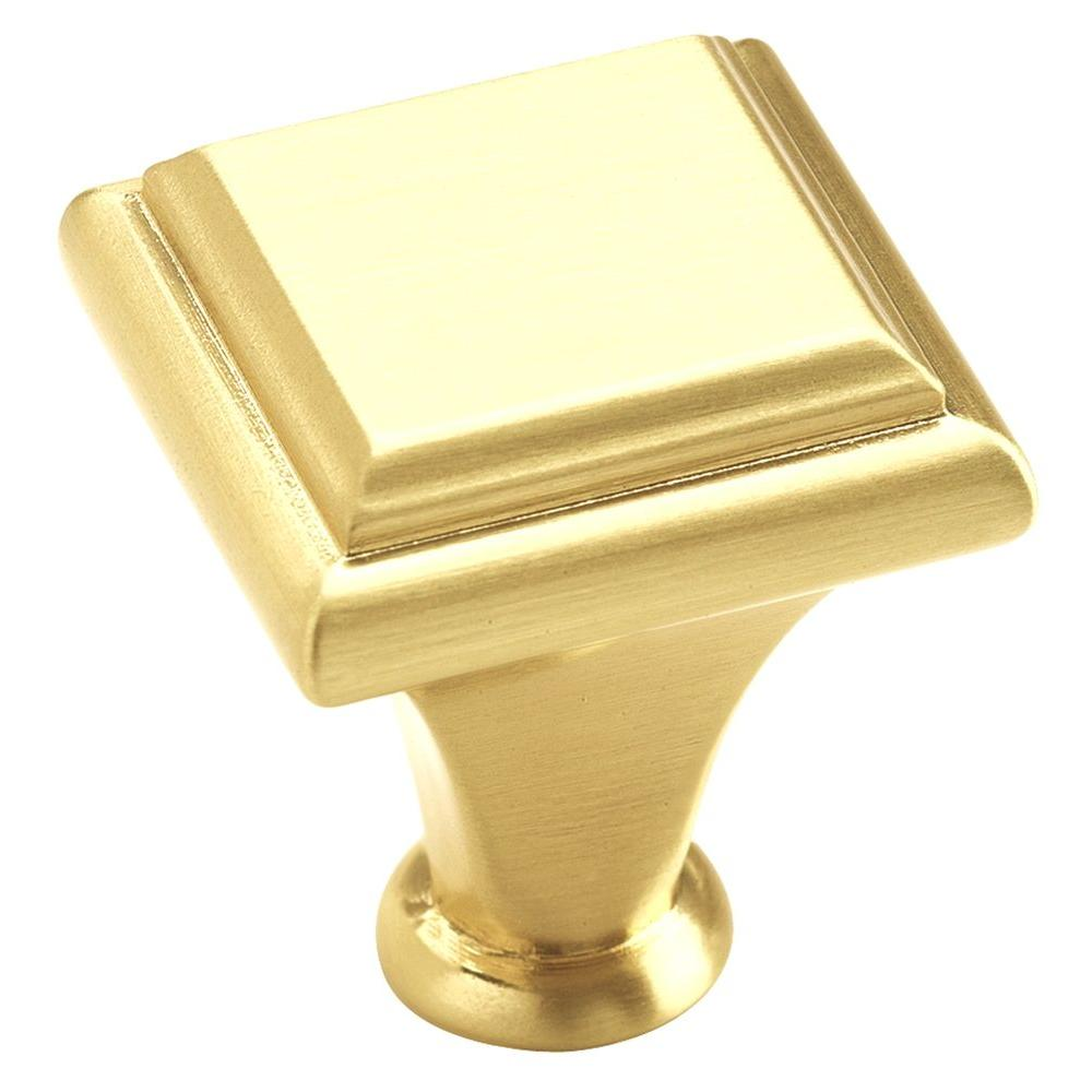 Amerock Manor 1 in. Brushed Brass Cabinet Knob