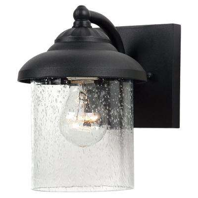 Lambert Hill 1-Light Black Outdoor Wall Fixture
