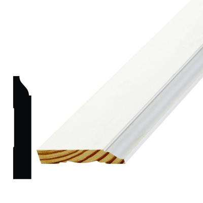 WM 623 9/16 in. x 3-1/4 in. Primed Finger Jointed Pine Base Moulding