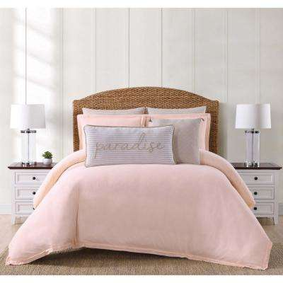 Chambray Coast Blush King Comforter with 2-Shams
