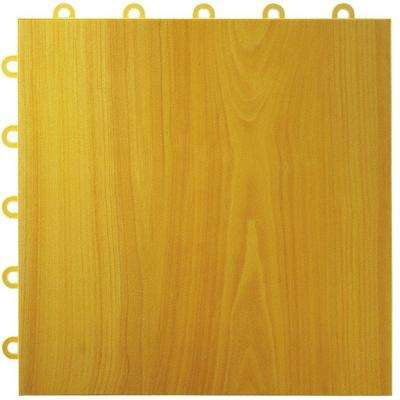 Max Tile 12 in. x 12 in. x 5/8 in. Maple Plank Vinyl Interlocking Raised Modular Floor Tile (Case of 26)