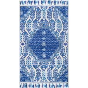 Corey Paisley Blue 8 ft. x 10 ft. Area Rug
