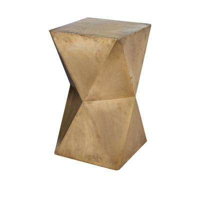 24 in. Faceted with Brass Cladding Accent Stool
