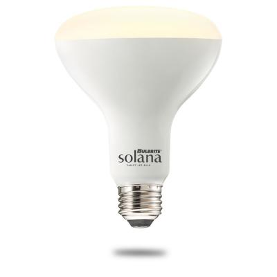 Solana 65-Watt Equivalent BR30 Dimmable Smart Wi-Fi Connected LED Light Bulb White (1-Bulb)