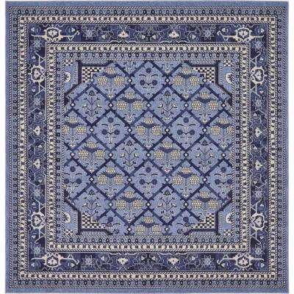 La Jolla Trellis Blue 8' 0 x 8' 0 Square Rug
