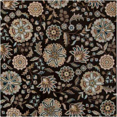 Alstonia Teal 9 ft. 9 in. x 9 ft. 9 in. Square Indoor Area Rug