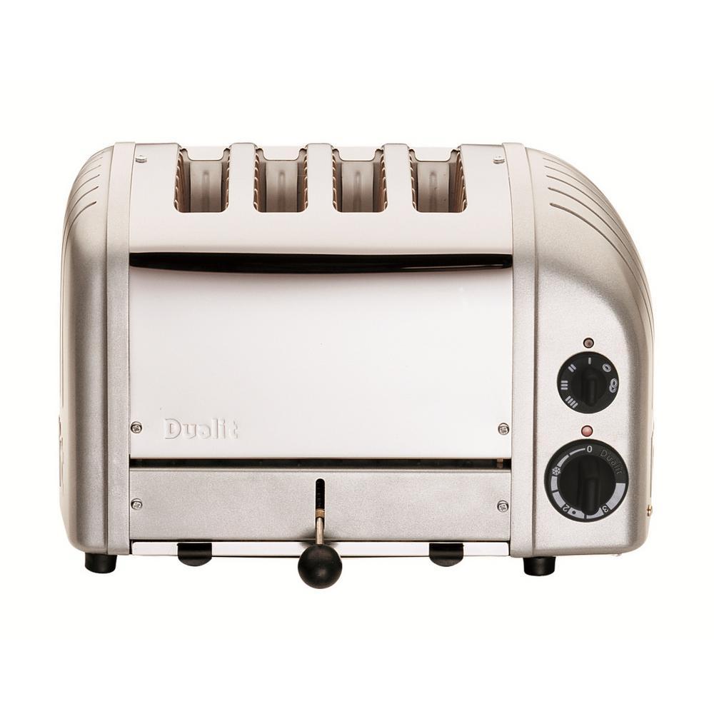 NewGen 4-Slice Metallic Silver Toaster
