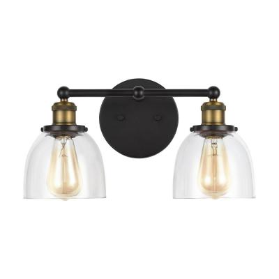 Evelyn 2-Light Artisan Bronze Vanity Light