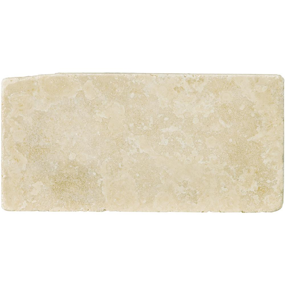 Trav Ancient Tumbled Beige 2.76 in. x 5.91 in. Travertine Wall
