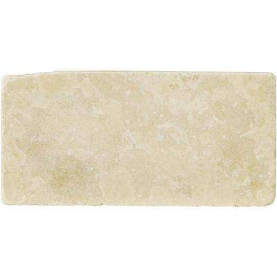 Trav Ancient Tumbled Beige 2.76 in. x 5.91 in. Travertine Wall Tile
