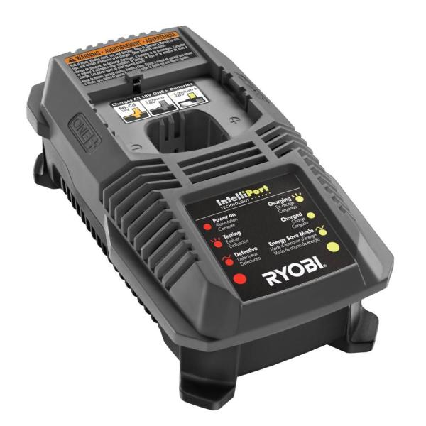 RYOBI 18V ONE Lithium-Ion 2.0 Ah Battery /& Dual Chemistry IntelliPort Charger