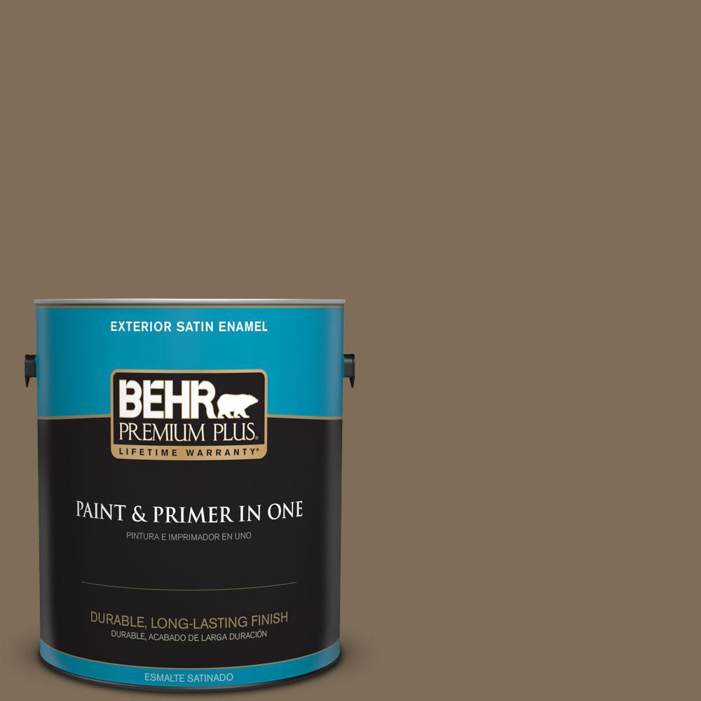1-gal. #710D-6 Butternut Wood Satin Enamel Exterior Paint