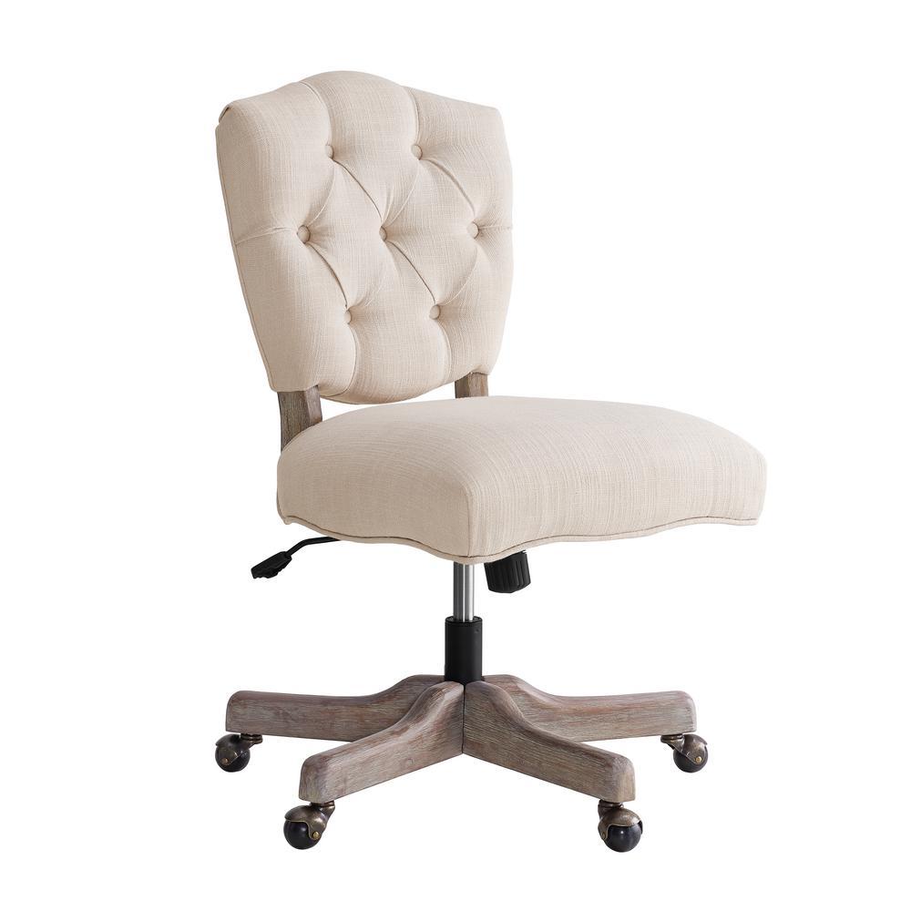 Linon Home Decor: Linon Home Decor Sinclair Natural Polyester Office Chair