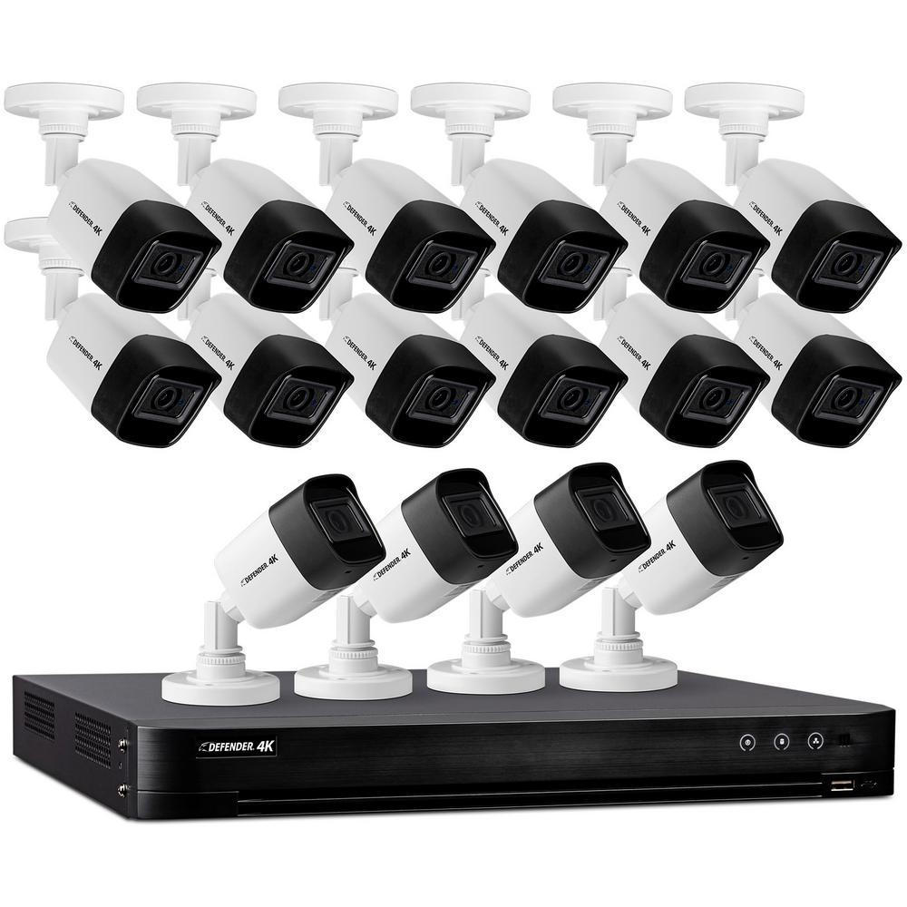 Defender Ultra HD 4K (8MP) 16 Channel 4TB DVR Security Camera System with Remote Viewing and 16 Cameras was $1499.99 now $899.99 (40.0% off)