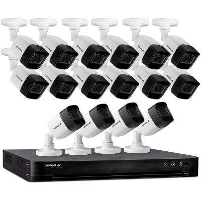 Ultra HD 4K (8MP) 16 Channel 4TB DVR Security Camera System with Remote Viewing and 16 Cameras