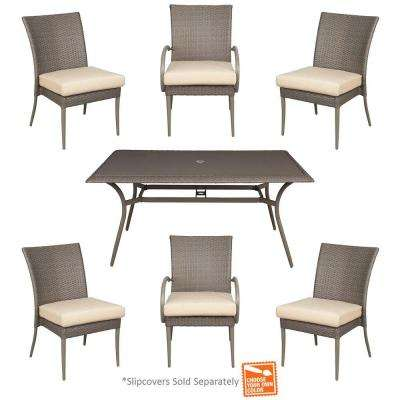Posada 7-Piece Patio Dining Set with Cushion Insert (Slipcovers Sold Separately)