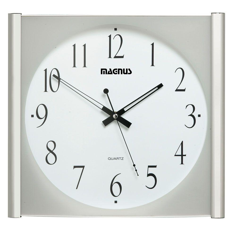 Catherine 14 in. x 14 in. Square Sweep Style Wall Clock