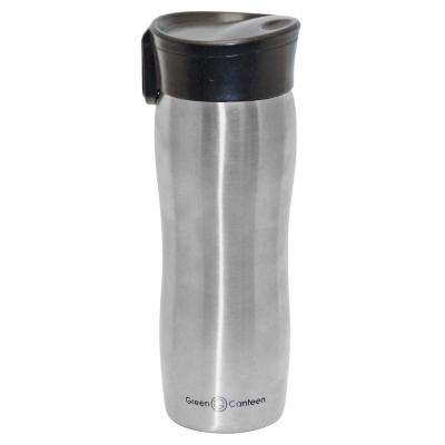 14 oz. Silver Double Wall Stainless Steel Vacuum Tumbler with Push Button (6-Pack)
