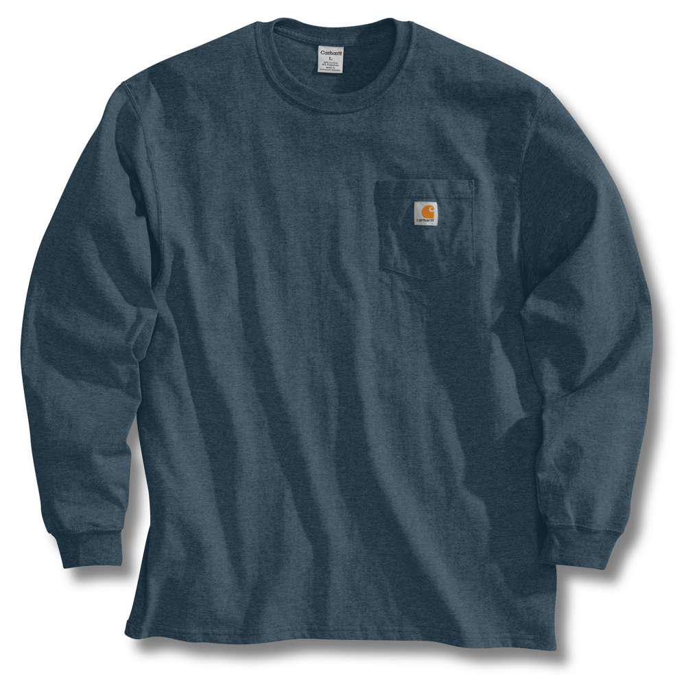 34809068fd93 Carhartt Men's Tall X Large Bluestone Cotton Long-Sleeve T-Shirt ...