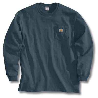 a05d0ca0e58 Carhartt Men s Regular XXXX Large Black Chambray Cotton Long-Sleeve ...