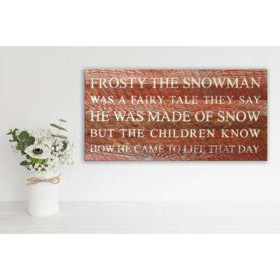 FROSTY THE SNOWMAN Reclaimed Wood Decorative Sign