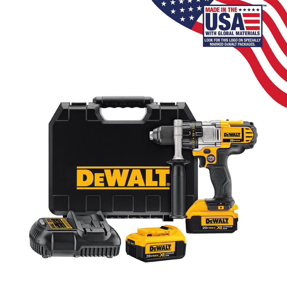 20-Volt MAX Lithium-ion Cordless 1/2in Premium 3-Speed Drill/Driver Kit with (2)