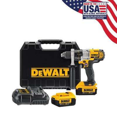 20-Volt MAX Lithium-ion Cordless 1/2in Premium 3-Speed Drill/Driver Kit with (2) Batteries 4Ah, Charger, and Case