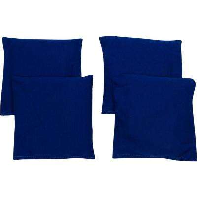 6 in. Blue Starter Set Cornhole Bean Bags (4-Set)