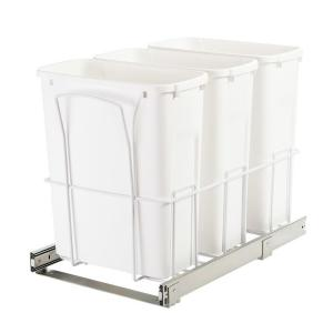 Knape & Vogt 14.38 inch x 22.56 inch x 17.56 inch In Cabinet Pull-Out Bottom Mount Trash Can by Knape & Vogt