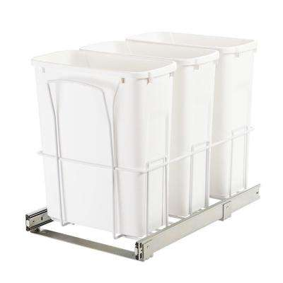 14.38 in. x 22.56 in. x 17.56 in. In Cabinet Pull-Out Bottom Mount Trash Can