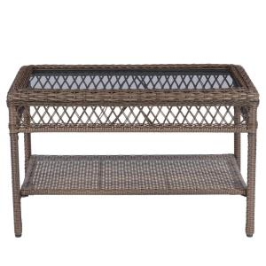 Deals on StyleWell Mix and Match Wicker Outdoor Patio Coffee Table