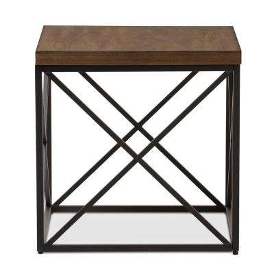 Holden Medium Brown Wood Finished End Table