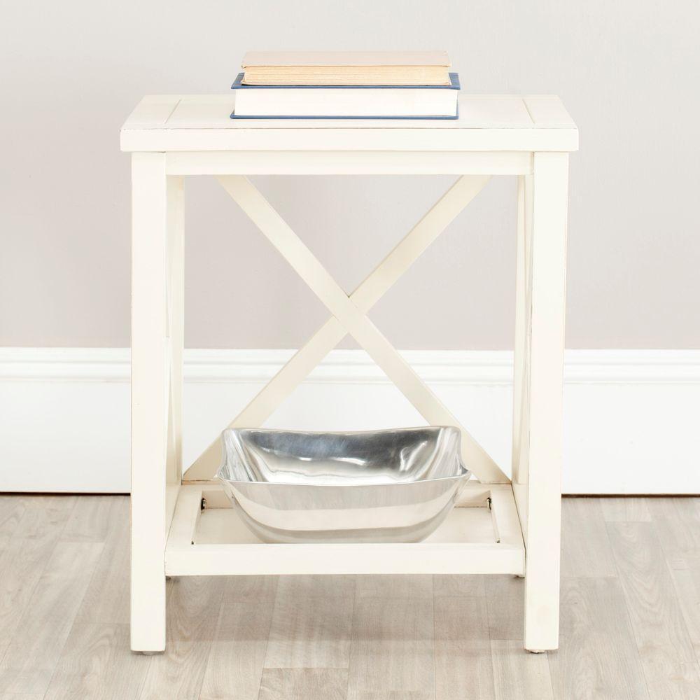 Safavieh Sahara Off-White Storage End Table