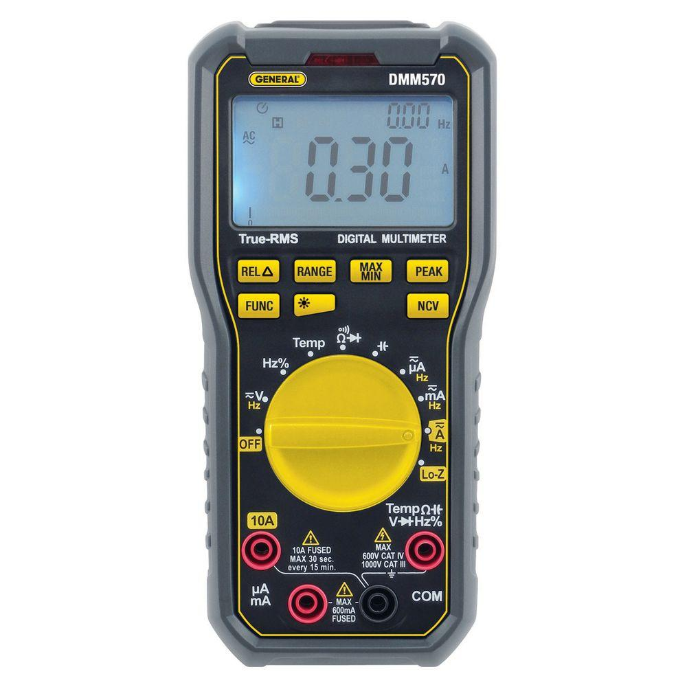 General Tools Rugged True RMS Multimeter with NCV Detector and