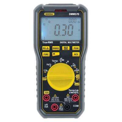 "Rugged True RMS Multimeter with NCV Detector and ""K"" Thermocouple Probe"