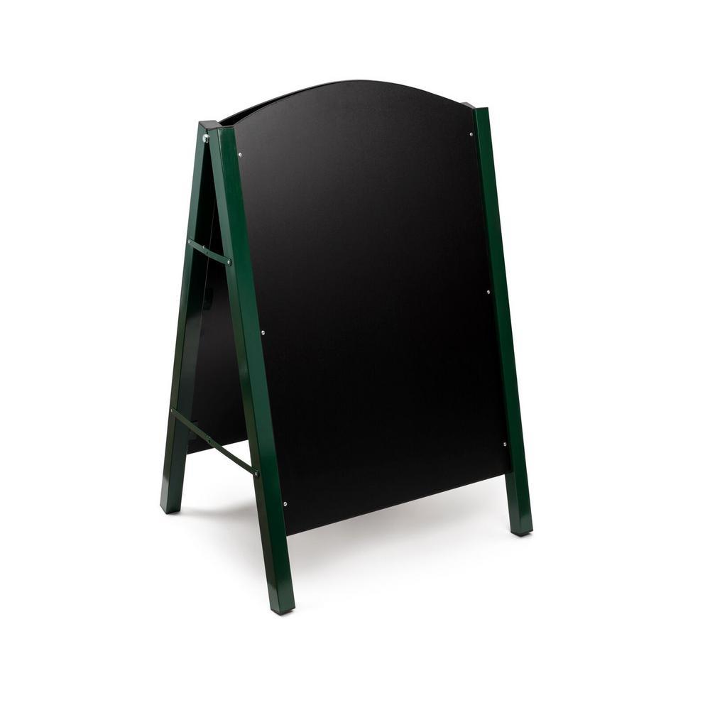 Alpine Industries 40 in. x 26 in. Steel Double Sided Green Standing Menu Board Chalkboard Sidewalk Sign