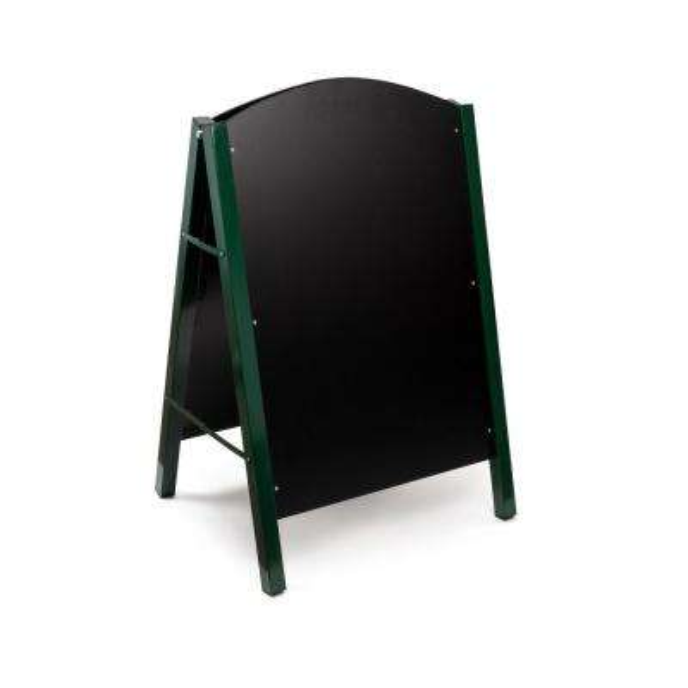 40 in. x 26 in. Steel Double Sided Green Standing Menu Board Chalkboard Sidewalk Sign