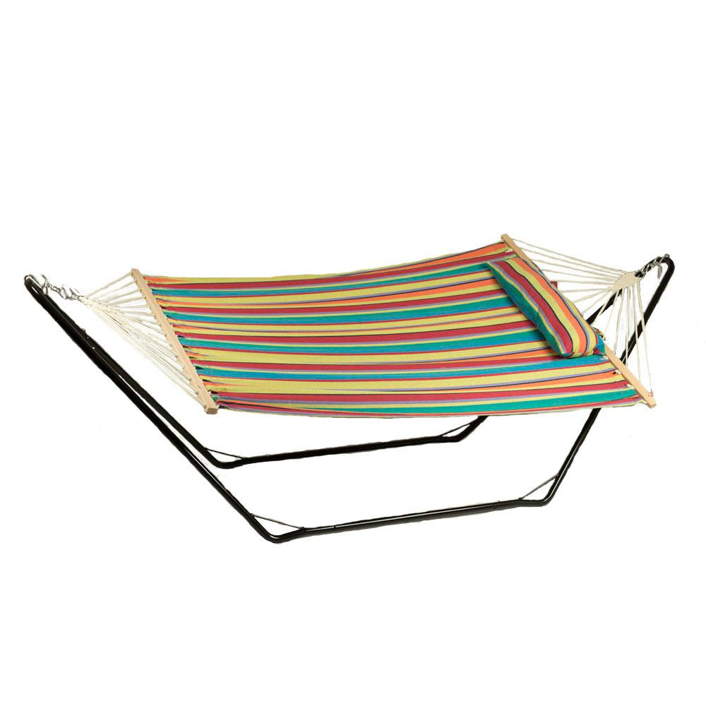 Sunnydaze Decor 9.75 ft. Fabric Hammock and Pillow with 1...