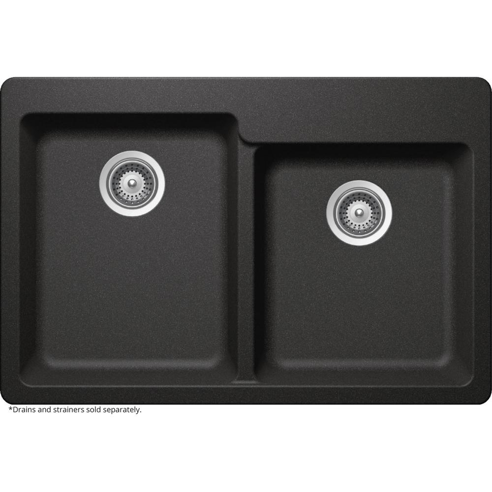 elkay elkay by schock drop inundermount quartz composite 33 in square offset - Kitchen Sinks For Sale