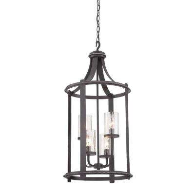 Palencia 4-Light Artisan Pardo Wash Interior Incandescent Hall and Foyer