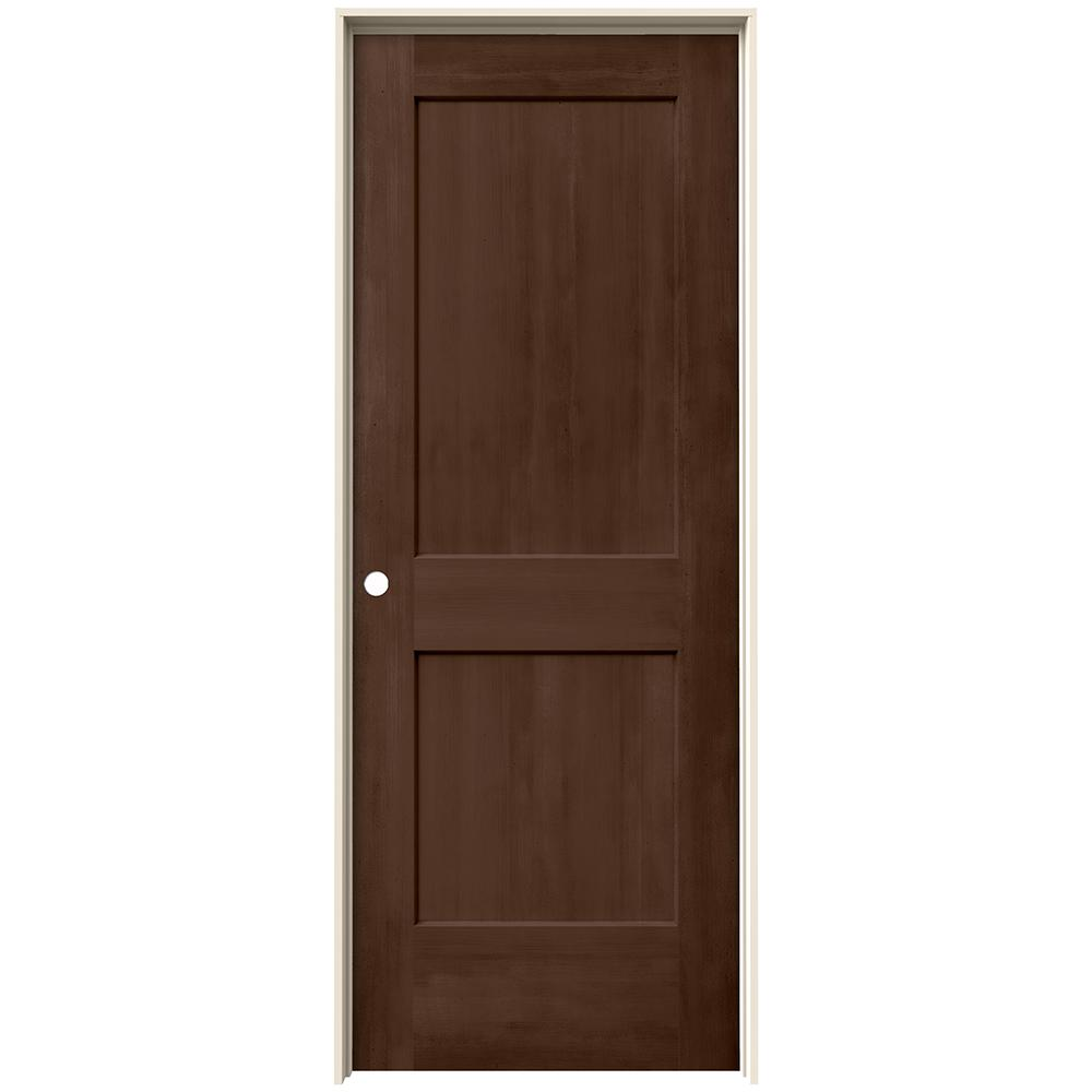 Jeld Wen 30 In X 80 In Monroe Milk Chocolate Stain Right Hand Molded Composite Mdf Single
