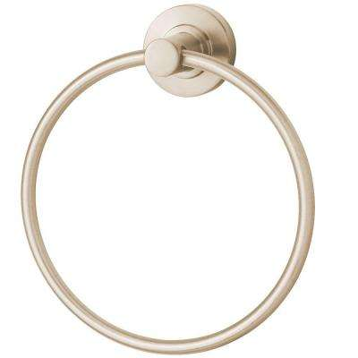 Neo Towel Ring in Brushed Nickel