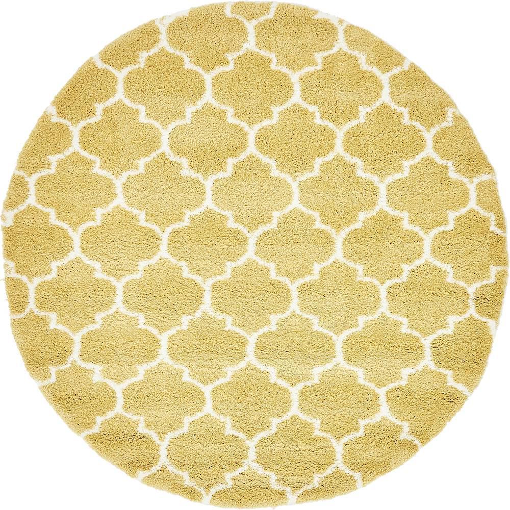 Rabat Shag Marble Yellow 8' 0 x 8' 0 Round Rug